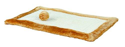 Trixie Kratzmatte mit Plüschrand, Farbe - braun