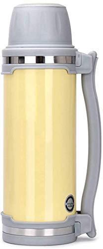 SLM-max Tasse à Eau Portable,Pot d'isolation en Acier Inoxydable pour Hommes Thermos Cup Thermos extérieurs Portables Thermos de Grande capacité de Voyage 1500 ML (Couleur: Argent)