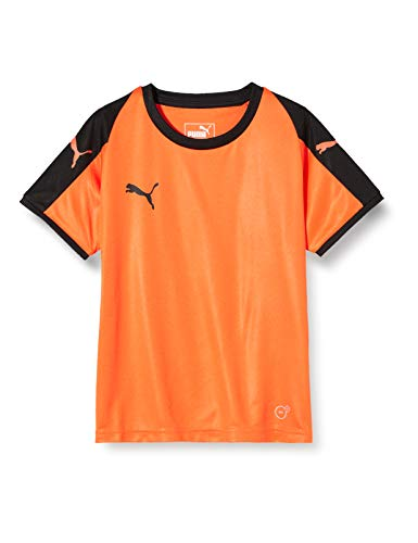 PUMA Kinder Liga Jersey Jr T-shirt, orange (Golden Poppy/Puma Black), 128