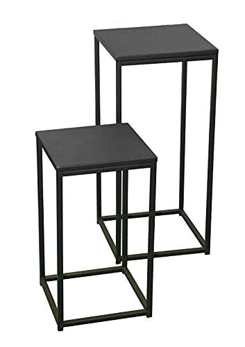 DROMI 2 Table GIGOGNE SELLETTE Basse APPOINT Industriel Metal LOFT Acier Carre DESSERTE LOFT Chevet GUERIDON