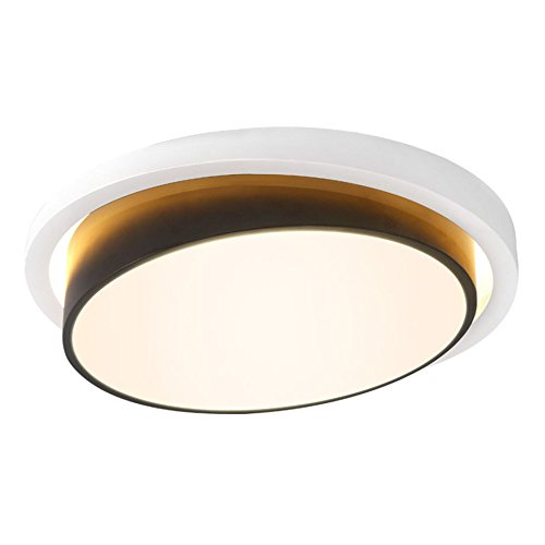 GPZ-iluminación de techo Lámpara de techo LED 47W Lámpara de balcón de dormitorio redondo Simple moderna Blanco frío Habitación de blanco cálido/Cocina/Pasillo [Clase energética A ++]