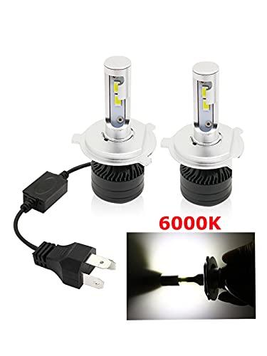 FANGFANGWAN H7 H4 HB3 9005 H1 H11H3 6000K Lámparas de Coche LED H8 HB4 9006 Kit de luz de luz de Faro LED LED Luces LED for Auto 1 2V 72W 2PCS (Emitting Color : 2PCS 6000K, Socket Type : H3)