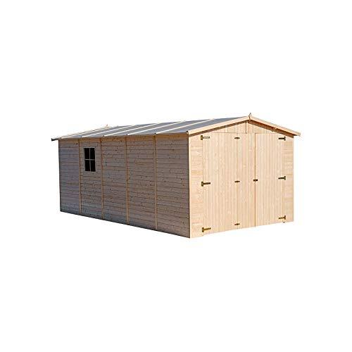 Garaje de Madera Mikhail I 16,78 m² Exterior 516x324x192/222 cm