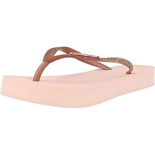 Havaianas Slim Flatform Glitter Rosa (Ballet Rose) Gomma 41/42 EU