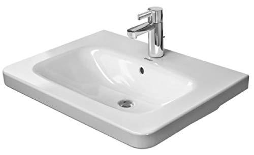 Duravit DuraStyle Möbelwaschtisch mit Überlauf, 650 mm • 650 x 480 18, 3 18 mm, weiß mit Wondergli