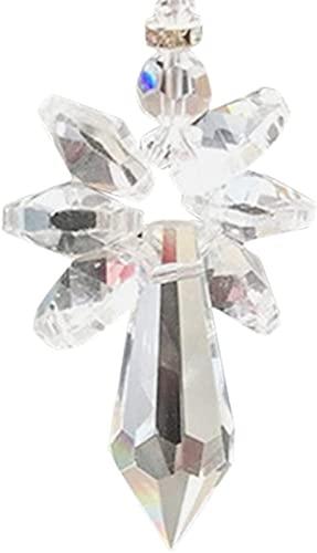 TBNB Atrapasol de Cristal de Ángel arcoíris, atrapasol de Chakra de Ángel Prisma Espejo retrovisor Colgante de Coche decoración Colgante para el hogar del Coche