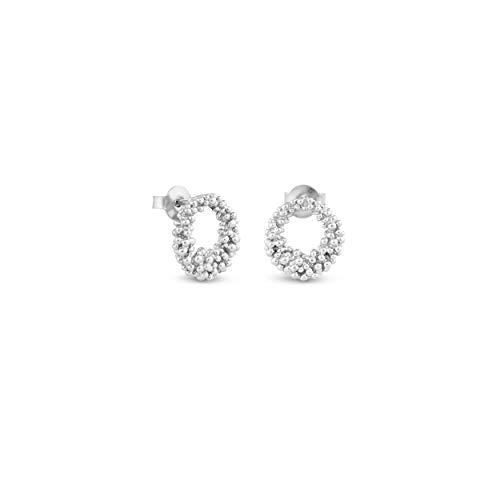 JOIDART – PENDIENTES DE PLATA STARDUST   Diseñado por Carme Fàbregas   Colección Stardust   Pendientes medianos tipo aros de plata