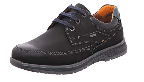 FRETZ MEN'S SHOES MEN'S STYLE Hombre Zapatos de Cordones Trento, de Caballero Calzado cómodo,Flexible,Invierno,Impermeable,Tex,51 Noir,47 EU / 12 UK