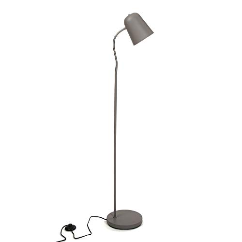 Versa 20840054 Lámpara de pie Gris de Metal, 142 x 23 x 35 cm