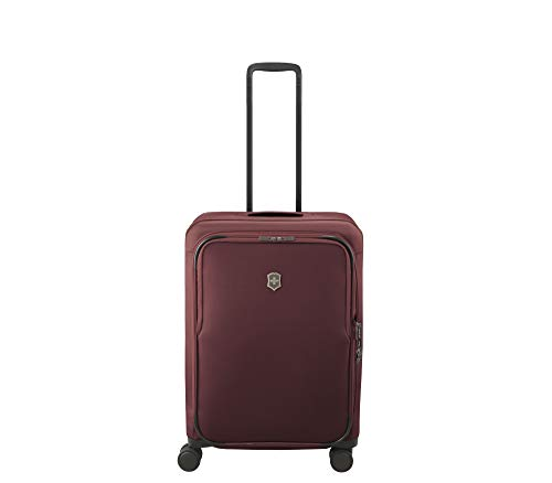 Why Should You Buy Victorinox Connex Softside Spinner Luggage, Burgundy, Checked-Medium (26)