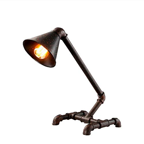 Estilo rural Mangueras Edison bar lámpara de dormitorio Restaurar formas antiguas, loft luz retro estudio restaurante personalidad lámpara de mesa