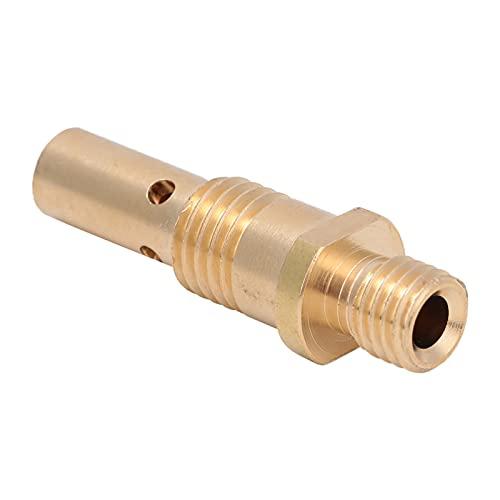 Difusor de gas resistente, 1.71In 5pcs 35-50 para TWECO MINI / # 1 Lincoln 100L MIG Soldado de pistola de soldadura consejos de contacto con latón para TWECO MINI / # 1 100L