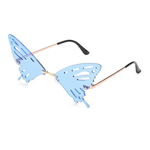 ZZOW Ins Popular Fashion Butterfly Shape Gafas De Sol Mujeres Vintage Clear Ocean Lens Gafas Hombres Gafas De Sol Huecas Sombras Uv400