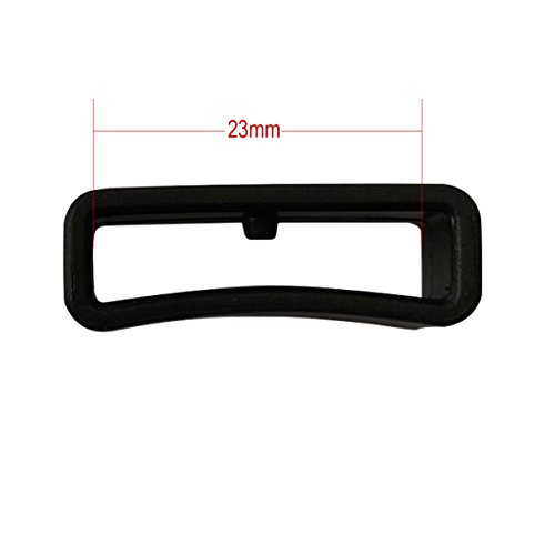 Fit to Garmin Forerunner 235 220 230 620 630 735 PVC Fitness Smart Watch Strap Retaining Hoop Loop Rubber Retainer Black Holder