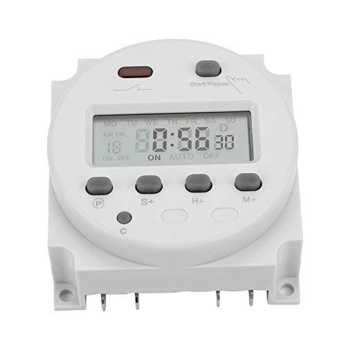 CN102A tijdschakelklok elektronische timer tijdschakelaar met digitaal LCD-display 12V / 24V / 110V / 220V 12V