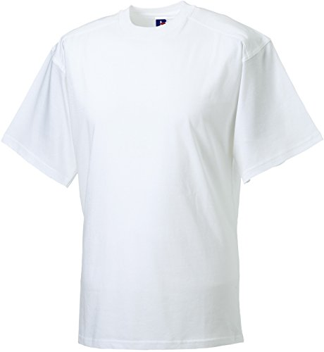 Russell Collection - T-Shirt - - Manches Courtes Homme - Blanc - White - White - XS