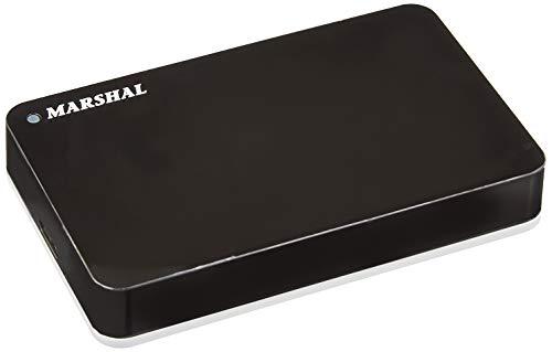 MARSHAL miniSHELTER ポータブル 2.5インチ 外付け HDD 【3TB】 テレビ録画対応 ハードディスク USB3.0/2.0 電源不要 簡単接続 MAL23000H2EX3-BK