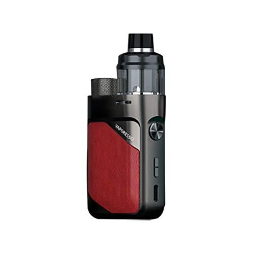 Original Vaporesso Swag PX80 Kit 80W Pod Mod & 4ml Cartridge Pod Fit 0.2ohm 0.3ohm GTX Mesh Coil Electronic Cigarette Vaporizer (Imperial Red)