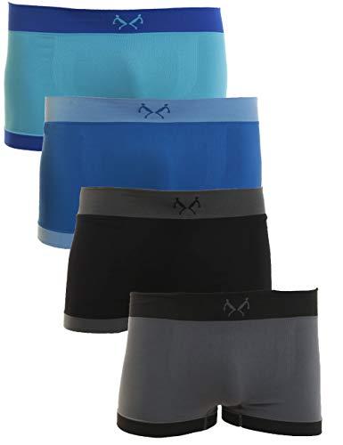 REMIXX Jungen Retroshorts 4er Pack Seamless Unterhosen Farbsets 182/188 Mehrfarbig