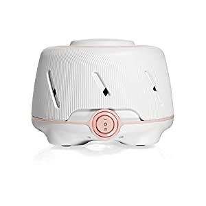 Yogasleep Dohm (White/Pink) | The Original White Noise Machine | Soothing Natural Sound from a Real Fan | Noise Cancelling | Sleep Therapy, Office Privacy, Travel | For Adults & Baby | 101 Night Trial