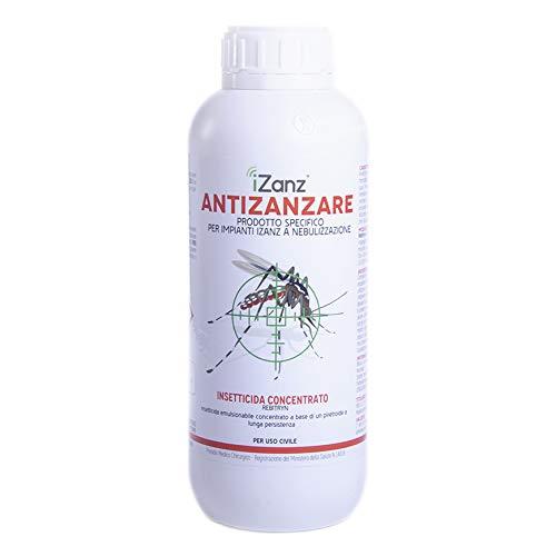iZanz Insetticida Concentrato - Insetticida antizanzare per sistemi a nebulizzazione - Insetticida Anti zanzare - Insetticida per impianti a nebulizzazione