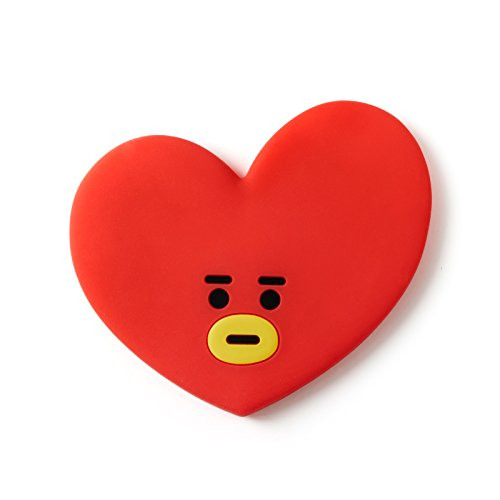 BT21 Official Merchandise by Line Friends - TATA Character Silicon Hand Mirror, Red