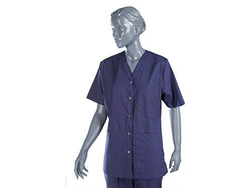 Mástil de enfermera con broches para Unisex, Talla S, Azul Marino, para enfermeras, terapeutas, belleza, cuidado de la salud, uñas, salón de spa