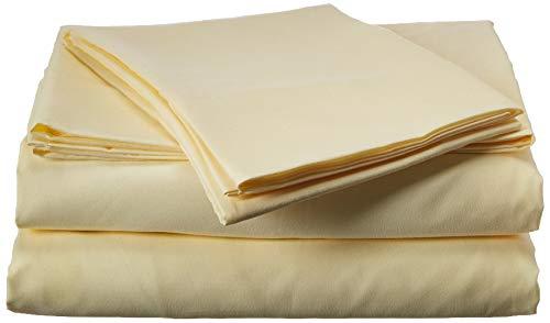 Microfiber Sheet Set (Pastel Paler yellow, Twin) - by Natural Comfort