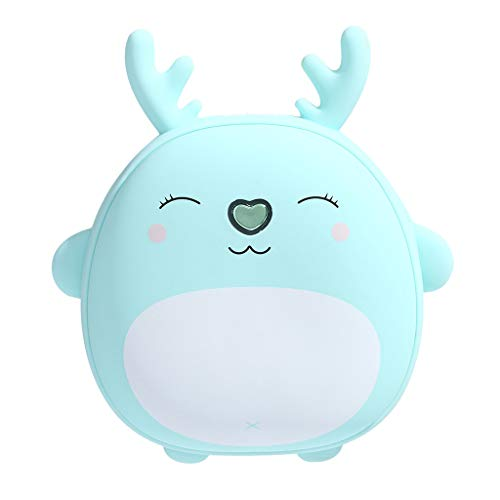 Shan-S Mini Cute Hand Warmers/6000mAh Power Bank,Multi-Function Rechargeable Portable Kawaii Instant Heating Two-Speed Adjustment Temperature, in Cold Winter for Students Children,Girls