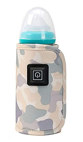 Portable Baby Bottle Warmer, Easy to Carry, Temperature Adjustable, Does Not Contain Toxic Substances, Always Keep The Milk Temperature, Brew Milk Anytime, Anywhere, Suitable for Travel, Shopping