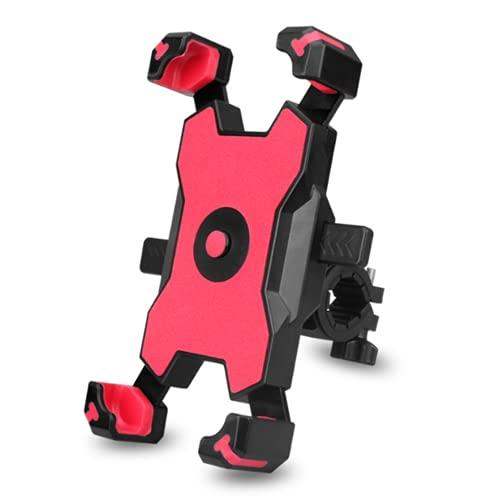 Soporte de teléfono para bicicleta 360 rotación de silicona para teléfono de bicicleta universal para manillar de motocicleta, compatible con teléfonos de 3.5 a 7.8 pulgadas, rojo, manillar