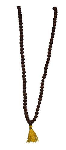 Aatm Tibetan 108 Beads Shiva Rudraksha Jaap Mala Necklace for Prayer & Healing (Beads Size - 8 mm)