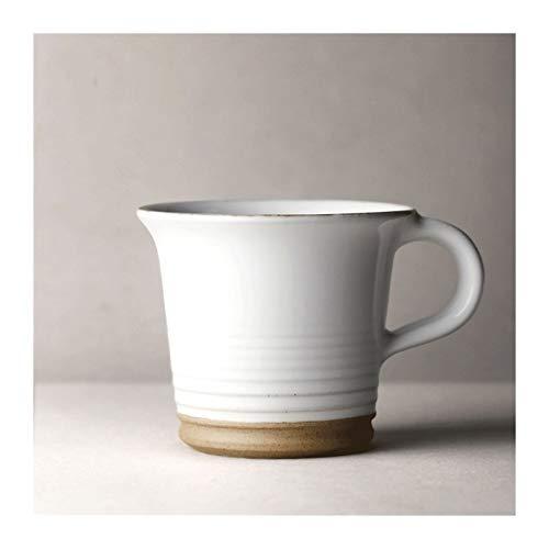 Juegos de tazas grandes Cerámica taza de café de 6.3 oz antiguos gruesos Cerámica Taza blanca taza de té desayuno Cup Copa de Leche, hecha a mano for la Mujer y el Hombre gran regalo Taza de café Taza
