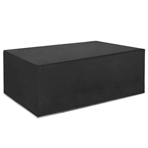 Accesorios para el hogar Cubierta para Muebles de Patio 330 * 220 * 95cm Cubiertas para Muebles de jardín Cubiertas para mesas de Patio 420D Protección al Aire Libre Antipolvo Mesas y sillas Negro