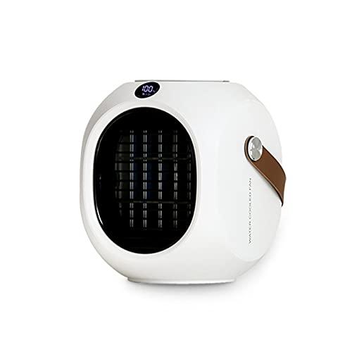 Acondicionador de aire portátil para sala pequeña, 120 ° Auto Oscillation Mini refrigerador de aire con 3 velocidades de viento, ventilador de refrigeración de escritorio 220 ml de tanque de agua, 400