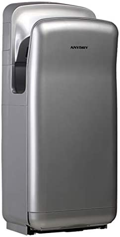 anydry 2005H secador de Manos, secador de Manos eléctrico Comercial, con Filtro HEPA, superpotente, 7-10 Segundos para secar, 1850vatios.(Plateado)