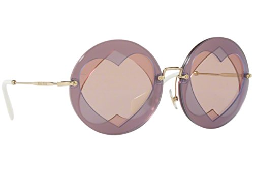 Miu Miu Damen 0Mu01Ss Va14M2 62 Sonnenbrille, Pink (Lilac/Pink/Pinkmirrorgold)