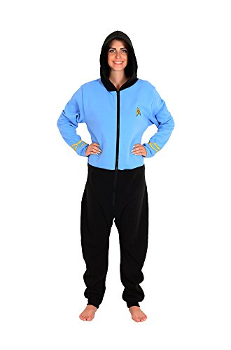 Star Trek Blue Spock Adult Pajama Onesie Small/Medium