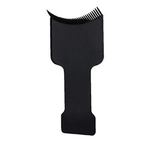 Heall Praktische Flat Top Haar Hervorhebungen Balayage Brett Haar Sectioning Comb Paddle Hair Coloring Dye Friseur Werkzeug-Schwarz-Frisur Werkzeug