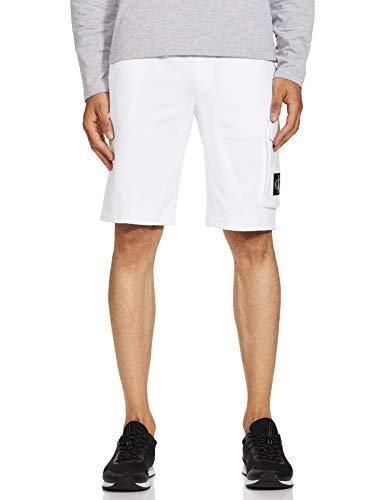 Calvin Klein Jeans Herren Monogram Badge HWK Shorts, Bright White, M