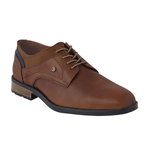 cklass 120-04 Zapato Oxford Vestir Casual Hombre Color Tabaco Piel Genuina Talla: 29