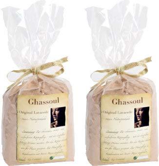 Ghidoul/lavaaarde, zeer fijn origineel Marokkaans kleiaardepoeder, 2 kg voorraadverpakking, voor chemisch vrije haarverzorging en lichaamhygiëne. Toneaarde geneeskrachtige aarde, tondepoeder Rhassoul Vegan Bio