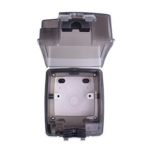 Caja de moldeo integral a prueba de intemperie impermeable IP66 de IP66 con enchufe de pared 16A Outlet de la UE Instalación externa Zócalo impermeable ( Plug Type : EU , Rated Voltage : 220 250V )