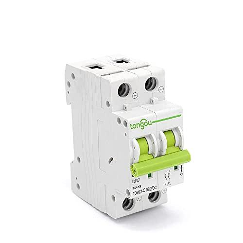 Dc 2p 16a Interruptor De Circuito Mcb 2 Polos EnergíA Solar Fotovoltaica Pv Mini Interruptor De Aire