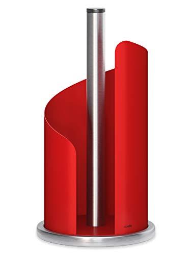 stardis Küchenrollenhalter, Ø 15 cm Edelstahl, matt rot Rollenhalter für Küchenrolle