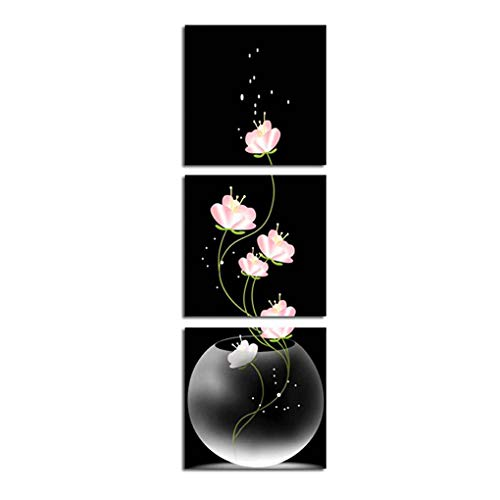 Regard L 3 Paneles Pared del Arte de la floración de la Flor Floral de la Belleza de la Pintura de poliéster en Vertical Imagen Imprimir Decoración del Dormitorio