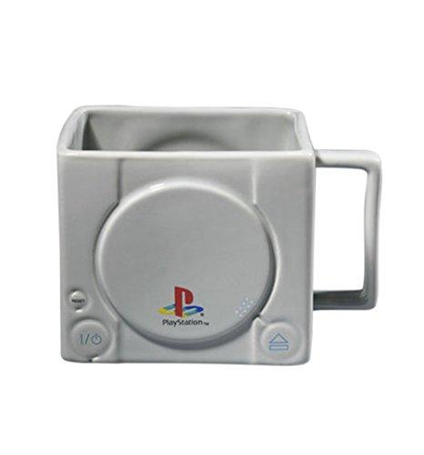 Sony Playstation Tasse 3D Konsole, aus Keramik in Grau