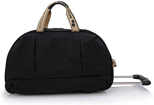 GQY Trolley -5 cities approved laptop suitcase - black briefcase business carry-on luggage trolley bag (Color : Noir, Size : Moyen)