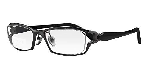 鯖江ワークス(SABAE WORKS) 遠近両用メガネ 老眼鏡 格好いい AE068 (遠用度なし 度数+1.50, C1 グレー)