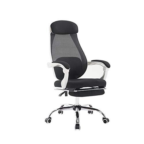Teniendo silla del acoplamiento de alta a Oficina Silla giratoria Respaldo transpirable Actividades almohada lumbar silla de salón de Elevación Rotary sillas de escritorio Peso 200 kg Blancas